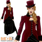Deluxe Victorian Vampiress Ladies Fancy Dress Gothic Halloween Adults Costume
