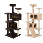 "52"" Cat Tree Tower Condo Play House Pet Scratch Post Kitten Furniture 2 Color"