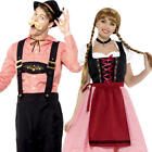 Bavarian Couple Adults Fancy Dress Oktoberfest German Mens Ladies Costumes New