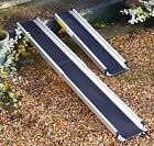 7ft Folding Telescopic Wheelchair Scooter Channel Ramps, Light, Easy, Strong