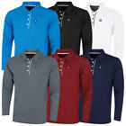 Stuburt Mens 2019 Urban Long Sleeve Performance Tech Golf Polo Shirt