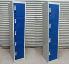NEW 4 & 5 DOOR STEEL METAL BLUE LOCKERS 180 x 38 x 42cm. RRP: £135-£150