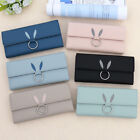 Three Fold Long Section Wallet Female Simple Color Shopping Portable Bags