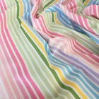 Rainbow stripe 100% Cotton Fabric per half metre / fat quarter by Robert Kaufman