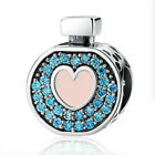 Authentic S925 Sterling Silver Charm Perfume Heart CZ European Charms Bracelet