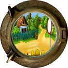 Huge 3D Porthole Enchanted Garden View Wall Stickers Mural Decal Wallpaper 147