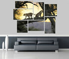 Leopards in the Sunset Removable Self Adhesive Wall Picture Poster 1179
