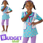 Doc McStuffin Girls Fancy Dress Disney Pet Animal Vet Doctor Childs Kids Costume
