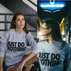 Fashion Womens Casual Long Sleeve Hoodie Letter Printed Pullover Sweatshirt GIFT