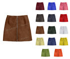 Luxury Genuine Leather Lady Mini Skirt With Full Size Zip At The Front #S4