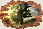 3D Hole in Wall Abstract Fantasy World View Wall Stickers Film Decal Mural 639