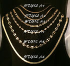 NEW GOLDTONE CHAIN NECKLACE COSTUME JEWELRY - CHOOSE YOUR STYLE/LENGTH (1)