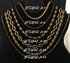 NEW GOLDTONE CHAIN NECKLACE COSTUME JEWELRY - CHOOSE YOUR STYLE/LENGTH (2)