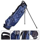 Professional Golf Stand Cart Bag Club w 4 Way Divider Carry Storage Pocket