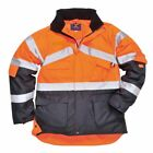 Portwest - Hi-Vis Outdoor Workwear 2-Tone Breathable Jacket With Pack Away Hood