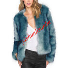 vogue women's furs coat Europe luxury short parka thick jacket outwear coats new