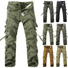 Combat Men Casual Cotton Cargo Army Pants Military Camo Trousers 6Colors
