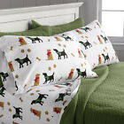 Orvis Paws And Bones Flannel Sheet Set / Only Twin Sheet Set