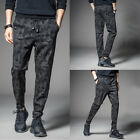 Mens latest Camo Camouflage Skinny slim Fit Joggers Gym Track Sweat Pants US