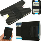 apartment credit application - Slim Carbon Fiber Credit Card Holder RFID Non-scan Metal Wallet Money Clip Purse