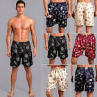 Silk Charmeuse Satin Lounge Sleep Pajama Pants Men's Shorts Pants Night Wear