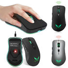 2.4G Wireless USB Rechargeable 2400DPI 6 Buttons 7-color Light Gaming Mouse Nice
