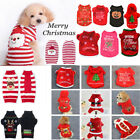 Pet Dog Christmas Sweater Puppy Striped Knit Clothes Winter Jumper Pullover