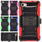 For Alcatel Pulsemix A50 Hybrid Combo Holster KICKSTAND Rubber Case Phone Cover