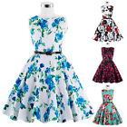Retro Vintage Floral 50s Child Kids Girl's Party Cocktail Swing Dress 6-12 Years