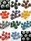 20pcs Charms 10mm Crystal Rhinestones Pave Clay Disco Ball Loose Spacer Beads