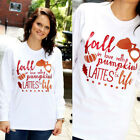 New Women Casual Crew Neck Long Sleeve Christmas Printed T Shirt Tee Tops Blouse