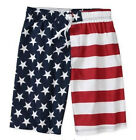 NWT AMERICAN FLAG USA Patriotic Swim Board Short Trunks S M L or XL Faded Glory