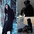 US Fashion Men hooded jacket long cardigan black ninja goth gothic punk hoodie