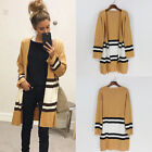 Womens Knitted Cardigan Casual Sweater Ladies Long Sleeve Jacket Coat Outwear HX