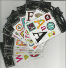 "U CHOOSE  Paper Studio ALPHABET LETTERS flat Stickers  4X5"" (1 sheet)"