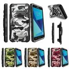 For Samsung Galaxy On7 | J7 Prime | J7 Halo (2017) Clip Holster Case Gray Camo