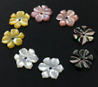 10PCS 10mm  Charm Yellow White Black Pink Natural Shell Flower beads