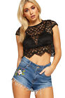 Womens Denim Frayed Hot Pant Shorts Ladies Distressed Floral Embroidered Pocket