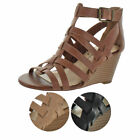 Jessica Simpson Cloe Women's Caged Wedge Buckle Sandals