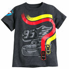 Disney Store Cars Lightning McQueen Racing Boys T Shirt Tee Size 2/3 4 5/6 New