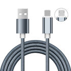 For iPhone Samsung 1M Dual Side Micro USB/IOS Fast Charging Data Charger Cable