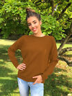 US Women's Autumn Winter Hoodies Top Long Sleeve Back Lace up Casual Jumper Tops