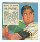 BOBBY THOMSON Signed REDMAN Tobacco BASEBALL CARD 1953 NY Giants NO REPRO. Vintg