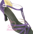 @@ Brillante #3L18CV Purple Latin Ballroom Salsa Dance Shoes UK3.5 - UK6.5 /3""