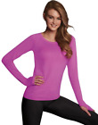 2 Maidenform Baselayer Thermal Crew Tops MFBLCR