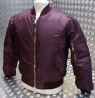 MA1 US Military Style Bomber Jacket MOD/Scooter/Bikers All Sizes Maroon  - NEW
