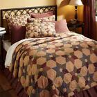 5PC TEA STAR COUNTRY PRIMITIVE QUILT SHAMS SKIRT PILLOW BED SET VHC BRANDS