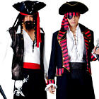 High Seas Pirate Mens Fancy Dress Jolly Roger Buccaneer Book Day Adults Costumes
