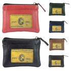 Women's Genuine Leather Top Zipper Front ID Flap Coin Change Purse Wallet image
