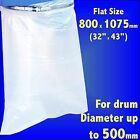 Poly Dust Extractor Collection Bag For Fox F50-842 F50-843 Charnwood W692 W792